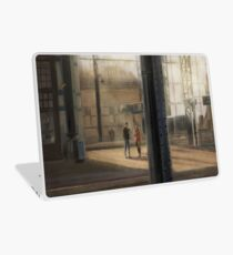Meeting at the Train Station Laptop Skin