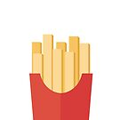 French fries on white by BlackDevil