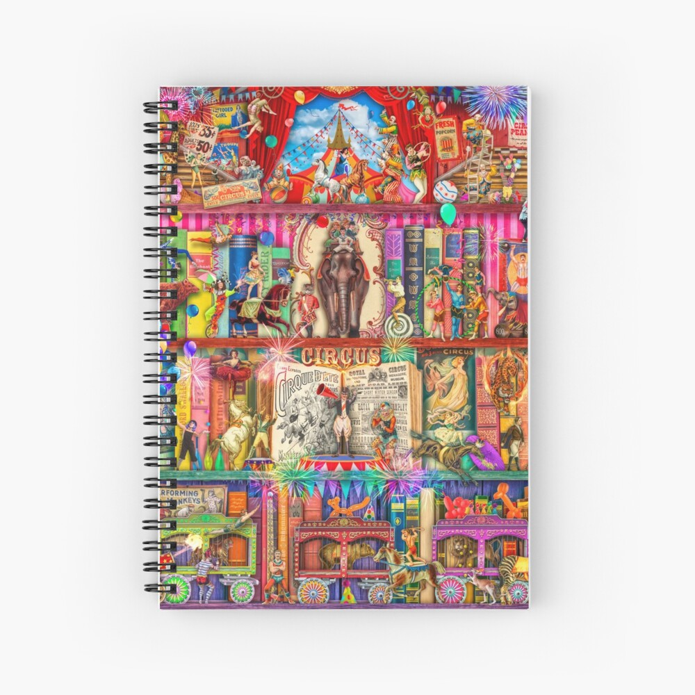 The Marvelous Circus Spiral Notebook