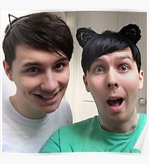 Dan and Phil Kitty Ears Poster