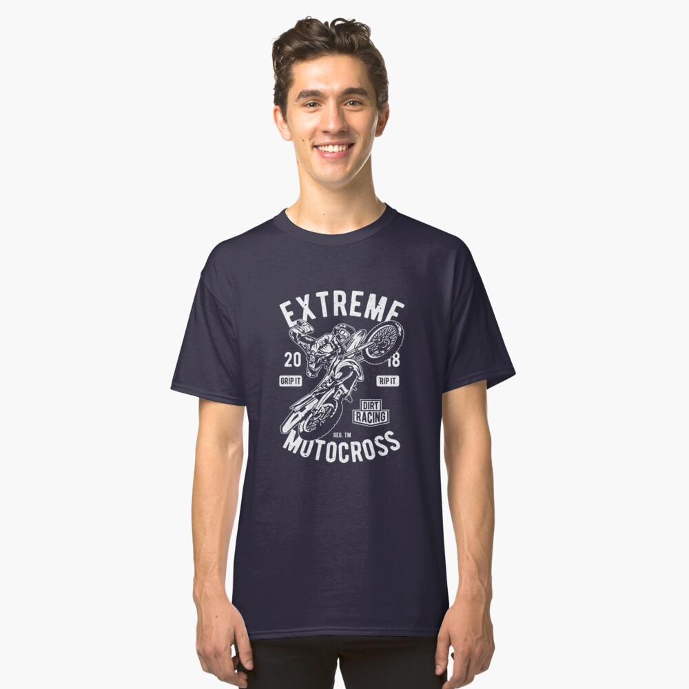 Extreme Motocross Motorcycle Vintage T-shirt Classic T-Shirt Front