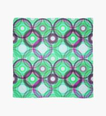 Circles   green and purple  Scarf