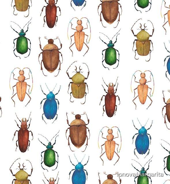 Summer mood. Watercolor tropical bugs by IonovaMargarita