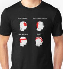 Kratos Head Ache Boy Chart - God Of War Meme Unisex T-Shirt