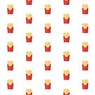 French fries pattern on white by BlackDevil