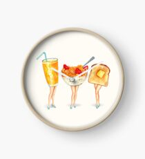 Breakfast Pin-Ups Clock