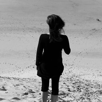 Lonely girl on the beach by Shendz
