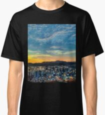High View of Seoul During Sunset Classic T-Shirt