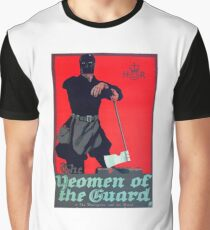 Vintage Art Deco pre 1920's Theatre Play Poster Style Woman Guard Graphic T-Shirt