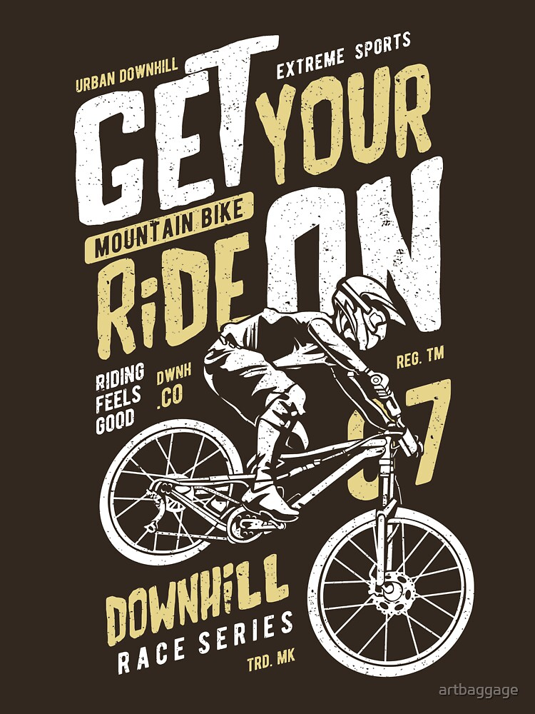 Mountain Bike Race Series Extreme Vintage T-shirt by artbaggage