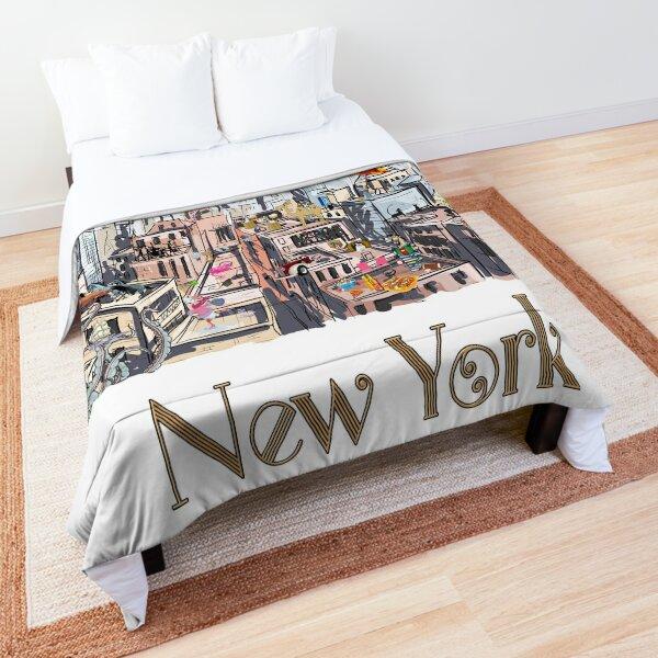 Pop Art New York City Surreal City Life  Comforter