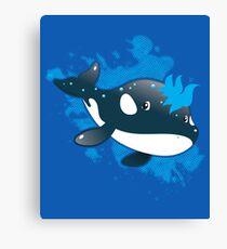 Orca killer whale blue Canvas Print