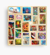 Aimee Stewart Stamp Sampler Metal Print