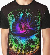 Psychadelic Mushroom Alice in Wonderland Graphic T-Shirt