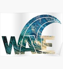 Perfect wave sunset surfer beach party typography Poster