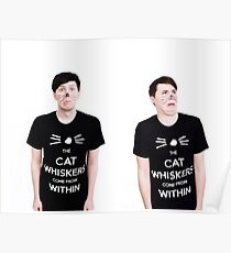 The Cat Whiskers Come From Within Poster