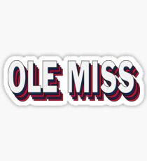 Ole Miss Stacked Sticker