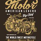 American Legend Motor Biker T-shirt by artbaggage