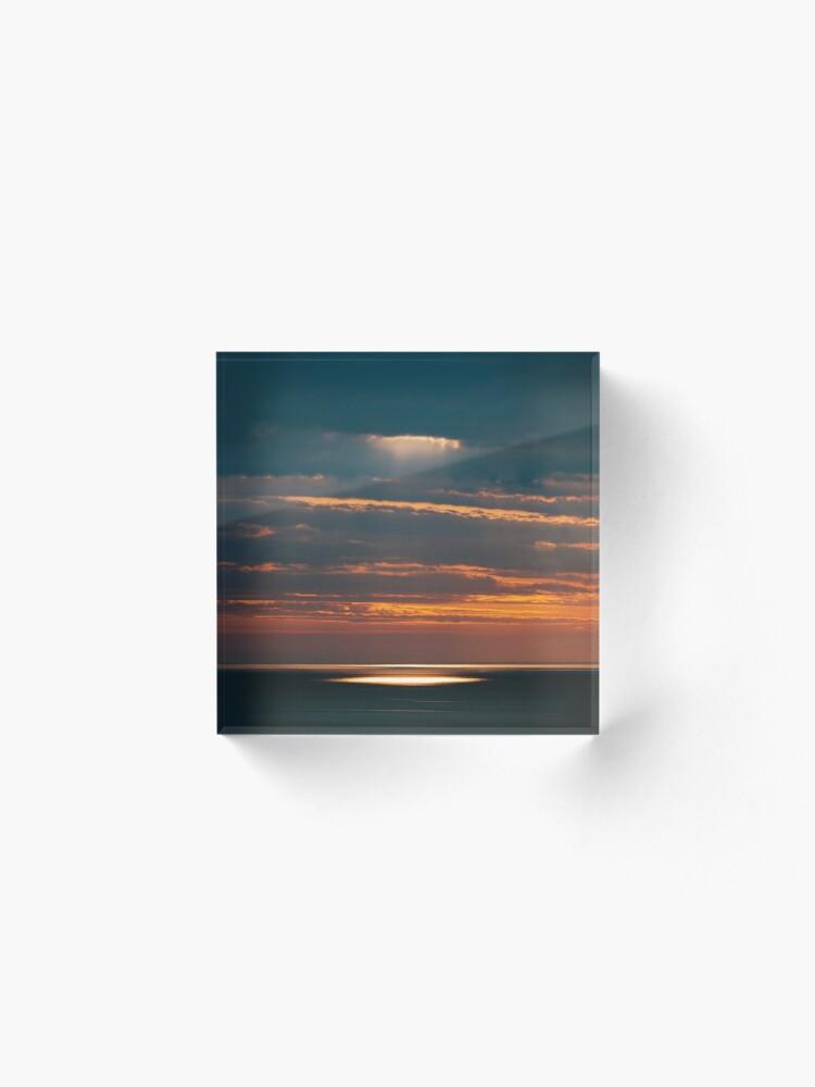 Bloc acrylique ''Light on the Sea': autre vue
