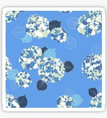 Floral pattern with big blue Hortensia Sticker