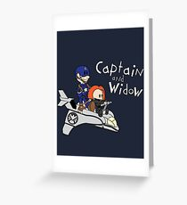 Captain and Widow Greeting Card