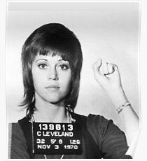 Jane Fonda Mugshot Vertical Poster