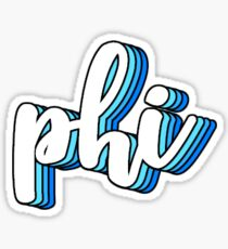 phi blue Sticker