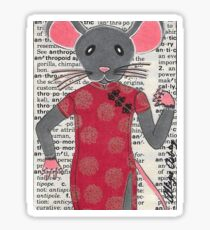 2018 Gray Mouse Qipao Chinese Dress by BRIDEOFHYDE Sticker