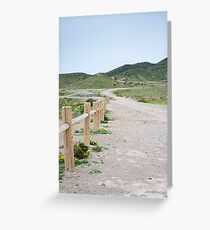 Dirt road into the hills Greeting Card
