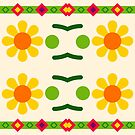 floral romantic natural love peace seamless colorful repeat pattern by Abrahamjrnd