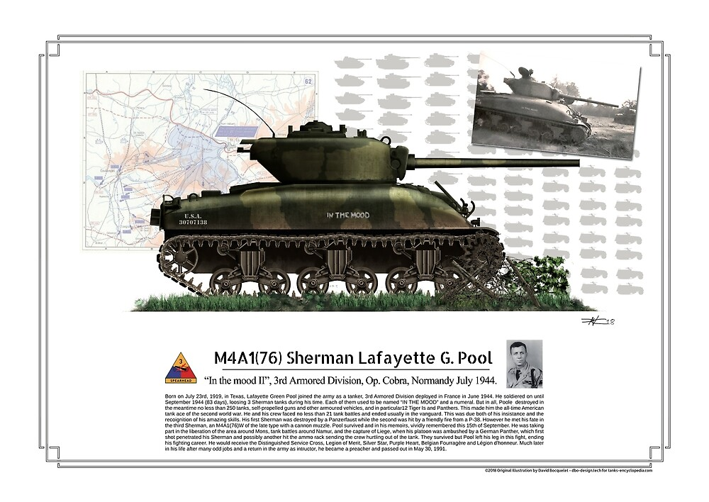 "M4A1(76) Sherman ""in the mood"" Lafayette G. Pool by TheCollectioner"