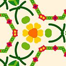 yellow natural floral pattern seamless colorful repeat by Abrahamjrnd