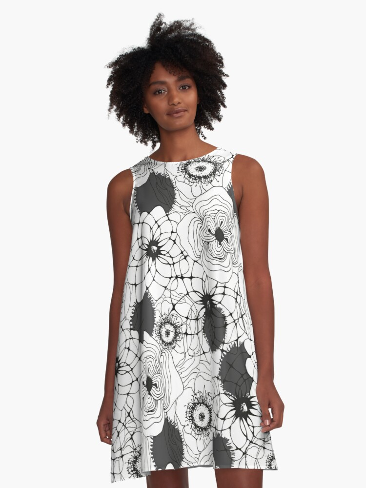 Spring memory - seamless pattern A-Line Dress Front