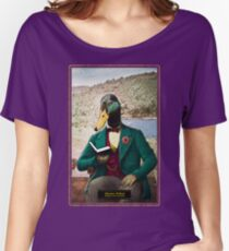 Monsieur Mallard Reading an Improving Book Women's Relaxed Fit T-Shirt