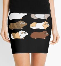 Funny Animal Guinea Pig Tshirt Design Different colors guinea pig Mini Skirt