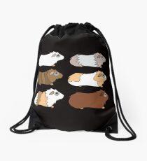 Funny Animal Guinea Pig Tshirt Design Different colors guinea pig Drawstring Bag