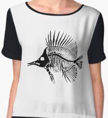 Vector fish skeleton Chiffon Top