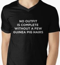 Funny Animal Guinea Pig Tshirt Design No outfit is complete Men's V-Neck T-Shirt