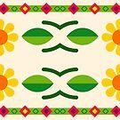 romance natural pattern seamless colorful repeat by Abrahamjrnd