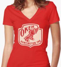 Okeh Roller Rink Women's Fitted V-Neck T-Shirt