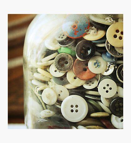 the button jar. Photographic Print