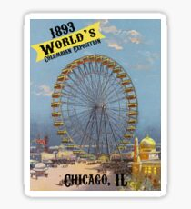 1893 Chicago World's Columbian Exposition Sticker