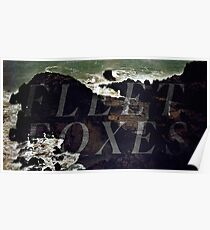Fleet Foxes - Sea Cliff (B+W) Poster