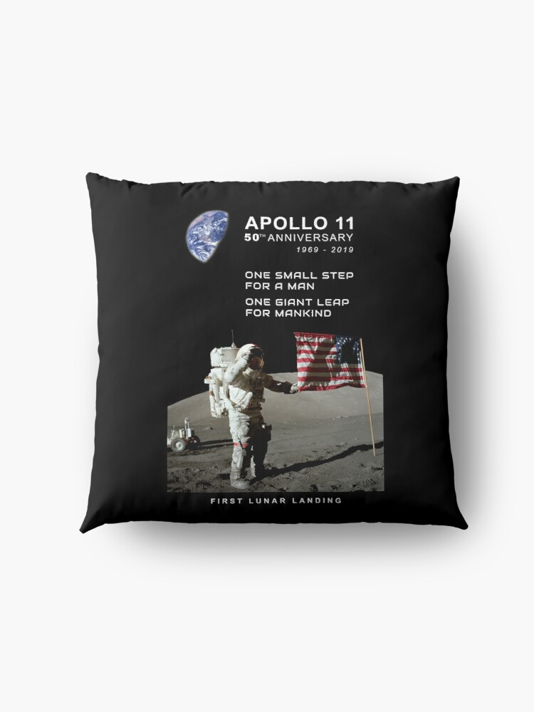 Alternative Ansicht von Apollo 11-50. Jahrestag 1969-2019, Mondlandung, Moon.Space Bodenkissen
