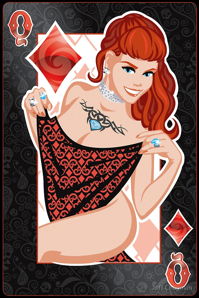 queen of diamonds by Jeff Chapman
