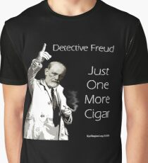 Just One More Cigar: Detective Freud Graphic T-Shirt