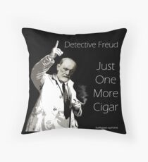 Just One More Cigar: Detective Freud Throw Pillow