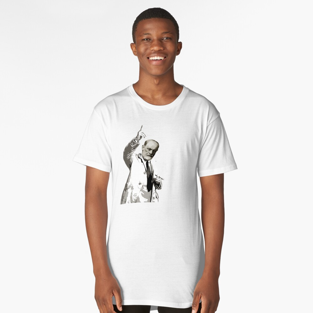 Just One More Cigar: Detective Freud Long T-Shirt Front