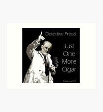 Just One More Cigar: Detective Freud Art Print