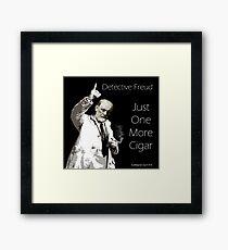 Just One More Cigar: Detective Freud Framed Print